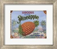 Framed Luscious Pineapple