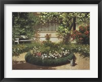 Framed Sunlit Flower Garden
