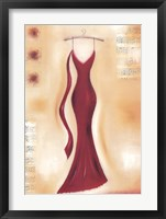 Framed Red Evening Gown II