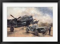Framed Lancaster and a Bentley