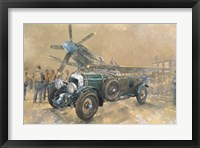 Framed Bentley and Spitfire
