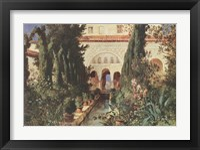 Framed Der Garten des Generalife Bei Graneda
