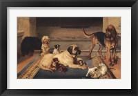 Framed Domestic Scene