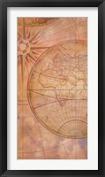Framed Compass Chart