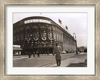 Framed Jackie Robinson Leaving Ebbets Field, 1947