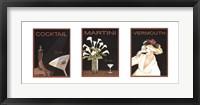 Framed Cocktail Trilogy