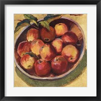 Apple Bowl II Framed Print