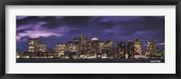Framed Boston at Dusk
