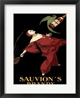 Framed Sauvion's Brandy