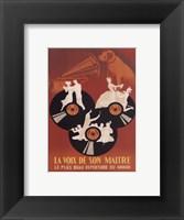 Framed La Voix De So Maitre