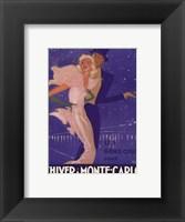 Framed L'Hiver a Monte Carlo