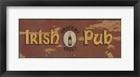Framed Draught Stout Irish Pub