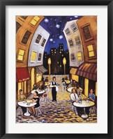 Framed Nighttime Cafe