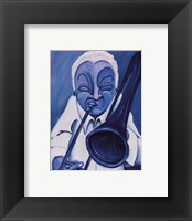 Framed Blue Jazzman III