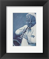 Framed Blue Jazzman IV