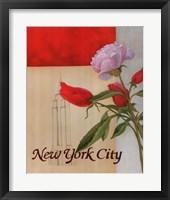 Framed New York Floral Views