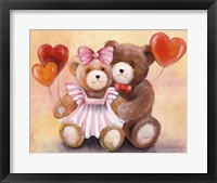 Framed Teddy Love