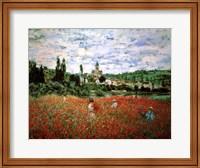 Framed Field of Poppies, Vetheuil