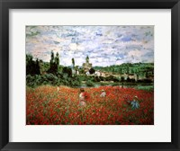 Framed Field of Poppies, Vetheuil
