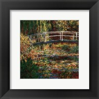 Framed Water Lilly Pond