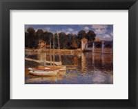 Framed Il Ponte d'Argenteuil