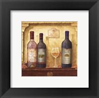 Wine Bottle Cluster III Framed Print
