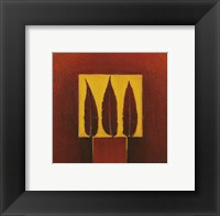 Framed 3 Feathers in a Square