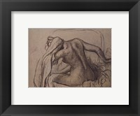 Framed Woman Drying Her Neck