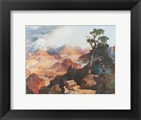 Clouds in the Canyon Framed Print