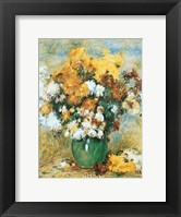 Framed Vase of Chrysanthemums