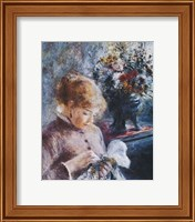 Framed Lady Sewing
