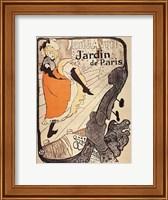 Framed Jardin de Paris