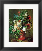 Framed Flowers in an Urn