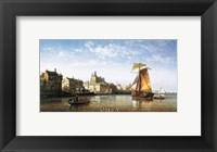 Framed Port Scene, France
