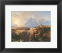 Rock Towers of the Rio Virgin Framed Print