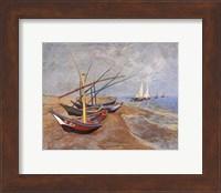 Framed Boats at Saint-Maries, 1888