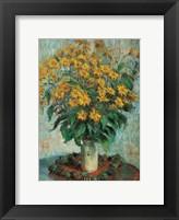 Framed Vase of Chrysanthemums