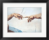 Framed Hands of God and Man