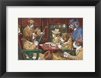 His Station And Four Aces Framed Print