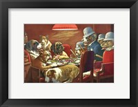 Pinched With Four Aces Framed Print