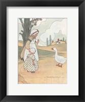 Framed Goosey, Goosey, Gander