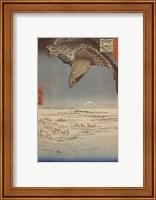 Framed Eagle Flying over the Fukagama District