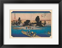 Framed Tokaido No. 3 Ferry on the River