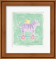 Framed Zebra Toy