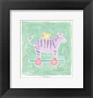 Framed Zebra Toy