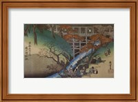 Framed Maple Leaves at Tsutenryo