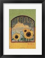 Framed Three Sunflowers
