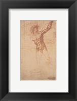 Framed Study of a Standing Male Figure