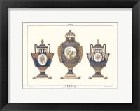 Framed Porcelain Vases