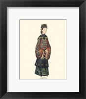 Framed Chinese Mandarin Figure XI